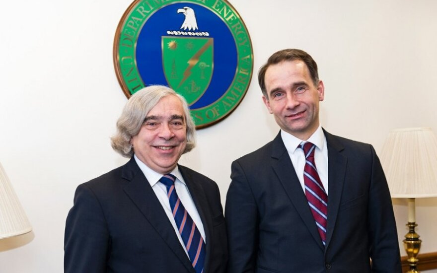 US Secretary of Energy, Dr. Ernest Moniz  and Minister of Energy Rokas Masiulis Photo Ludo Segers