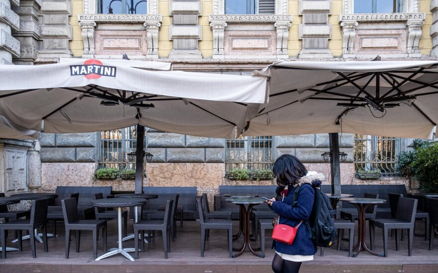 Italija tikisi biudžeto išlaidų laisvės, jei koronaviruso plitimas įgautų pagreitį