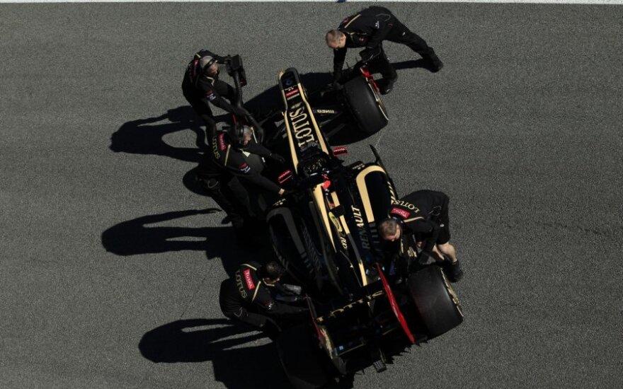"""Kimi Raikkoneno """"Lotus"""" bolidas"""