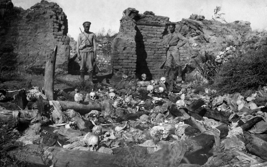 """Lithuanian foreign minister comes short of calling Armenian massacre a """"genocide"""""""