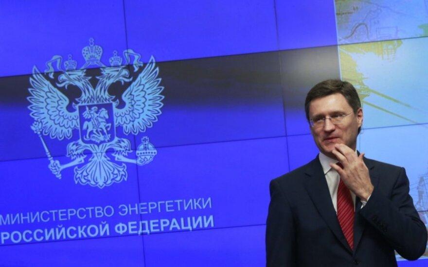 Rusijos energetikos ministras Aleksandras Novakas