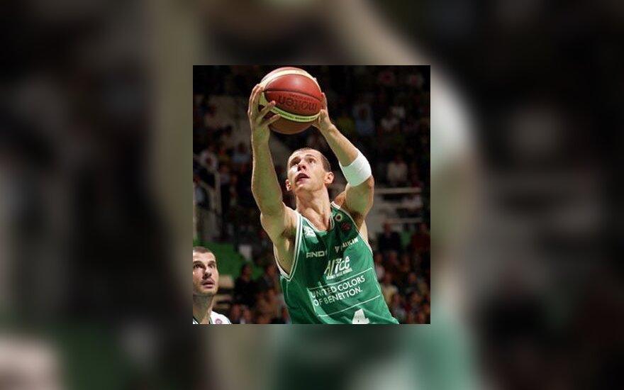 """Ramūnas Šiškauskas (Trevizo """"Benetton"""")"""