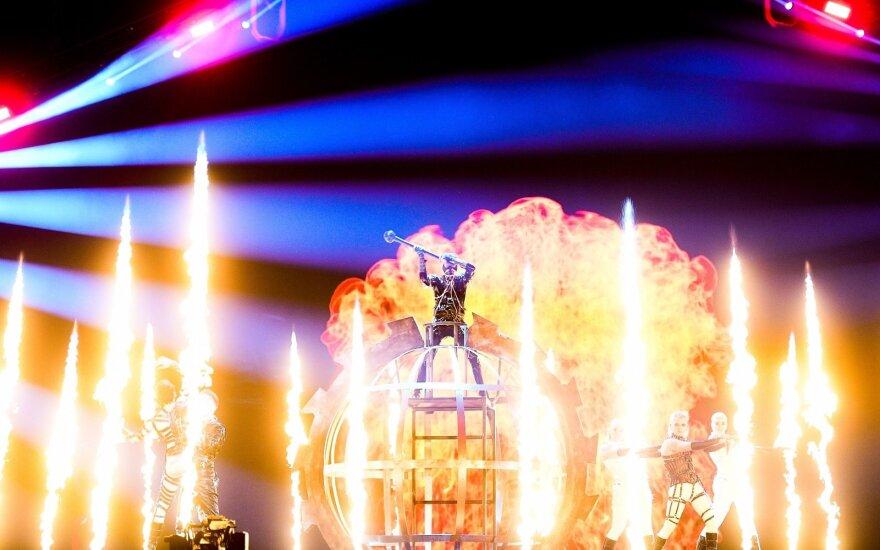 """""""Eurovizijos"""" generalinės repeticijos akimirka"""