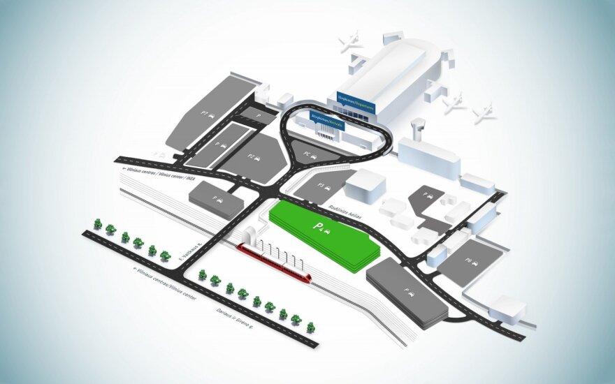 Nauja stovėjimo aikštelė prie Vilniaus oro uosto