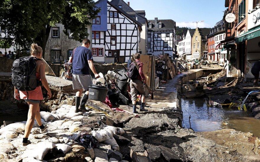 Potvynių nusiaubtos Vokietijos laukia ilgas atstatymas: teks išleisti milijardus
