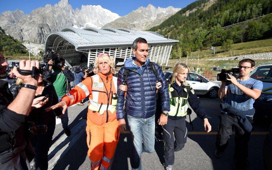 Išgelbėti Alpėse įstrigę turistai