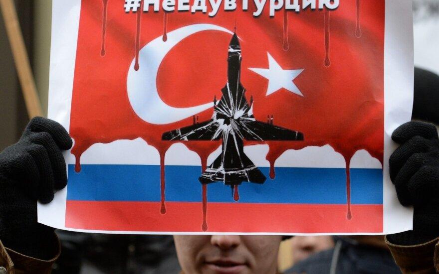 Protesto akcija po numušto Rusijos lėktuvo