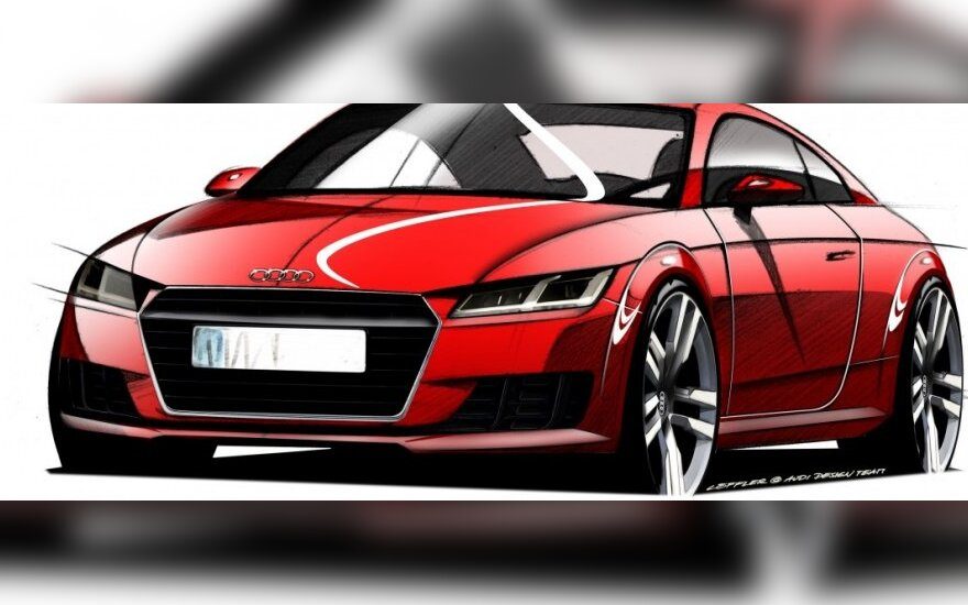 Audi TT eskizai