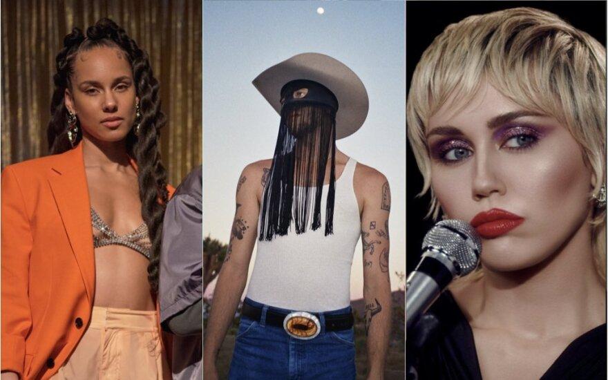 Kadrai iš Alicia Keys, Miley Cyrus vaizdo klipų