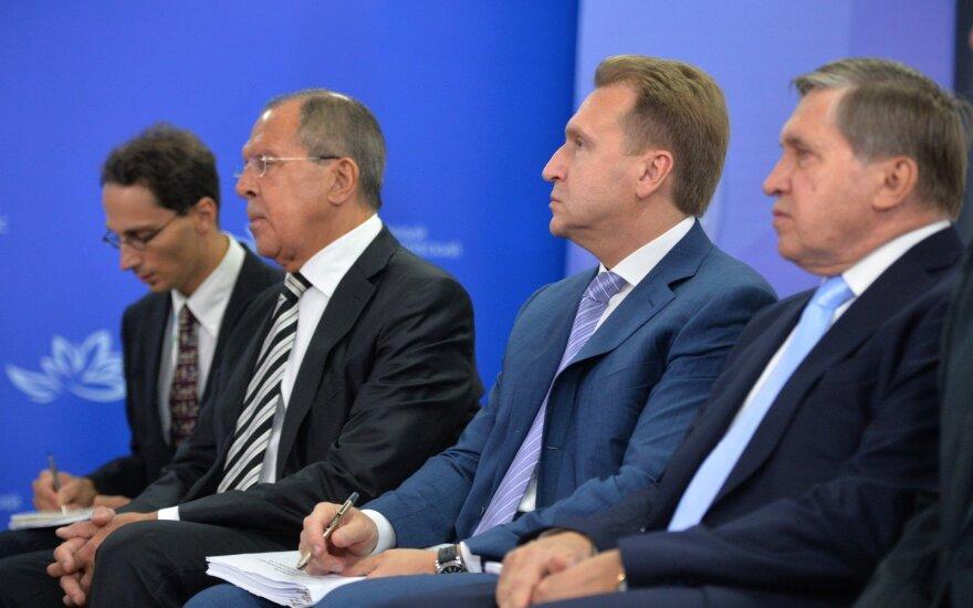 Jurijus Ušakovas, Igoris Šuvalovas,Sergejus Lavrovas