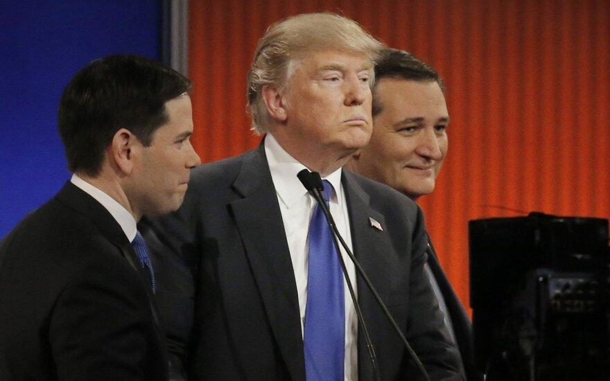 Marco Rubio, Donaldas Trumpas, Tedas Cruzas