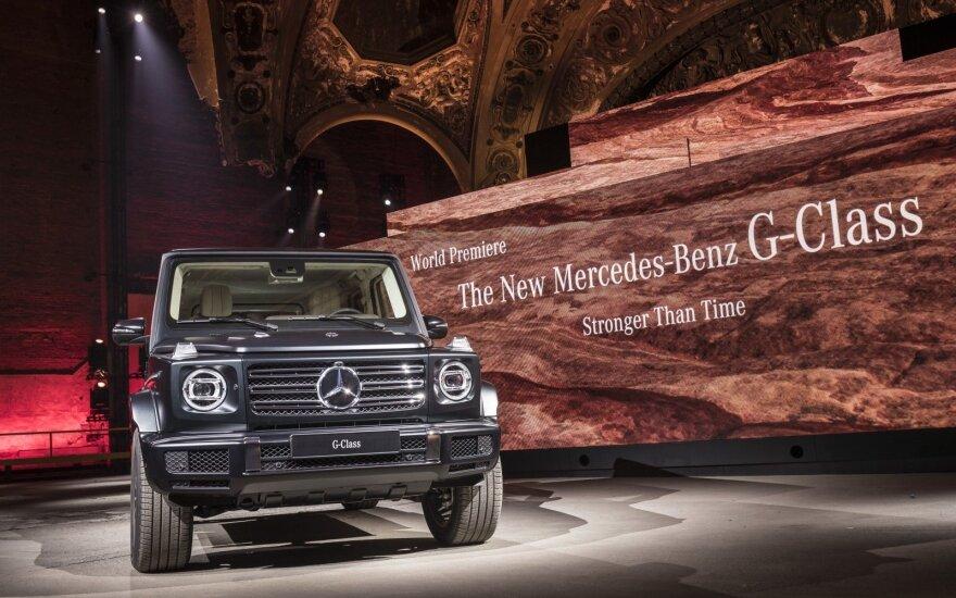 "Naujos kartos G klasės ""Mercedes-Benz"""