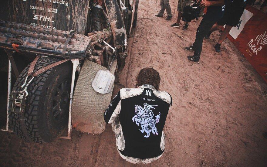 Dešimtasis Dakaro ralio etapas Vanagui baigėsi rizikingai