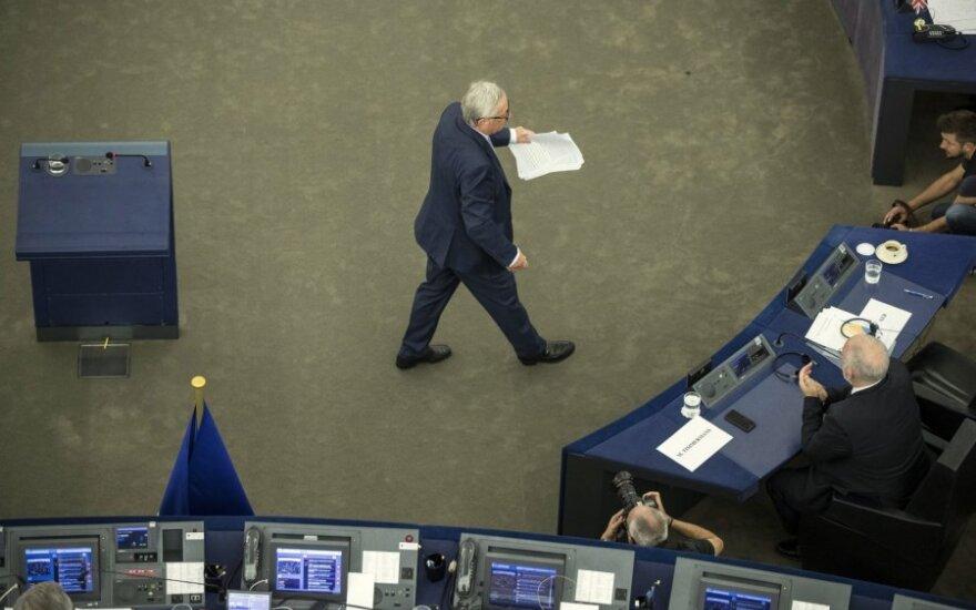 J. C. Junckeris Europos Parlamente sakė kalbą