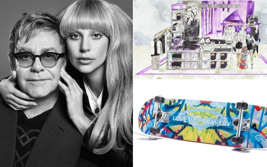 Lady Gaga ir E. Johnas sukūrė mados kolekciją