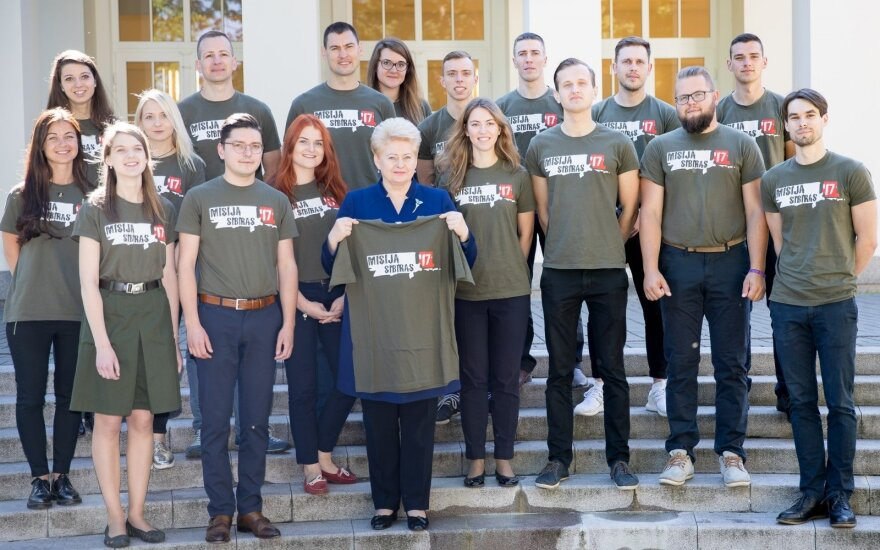 Lithuanian president Dalia Grybauskaitė  meets with Mission Siberia 2017 team