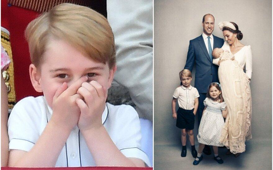 Princas George'as su šeima