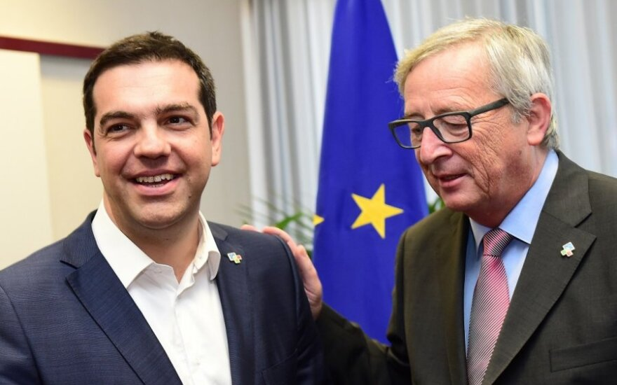Alexis Tsipras, Jeanas Claude'as Junckeris