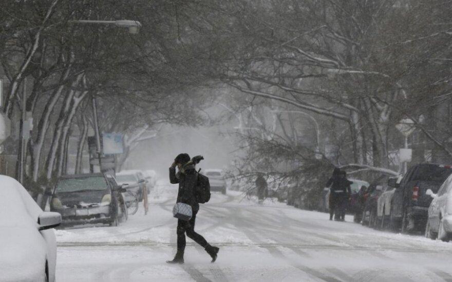 JAV Vidurio Vakarus ir pietryčius užklupusi pūga pareikalavo vienos gyvybės