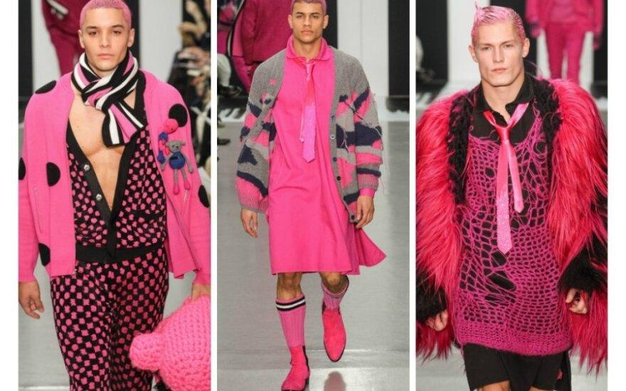 Šokiruojančios mados naujienos vyrams: brangieji, teks matuotis rožinius sijonus