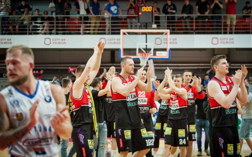 "BC ""Lietuvos rytas"" after winning bronze"