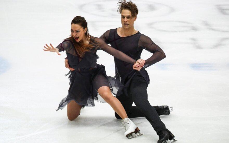 Lietuvos šokių ant ledo pora Europos čempionate liko už dešimtuko
