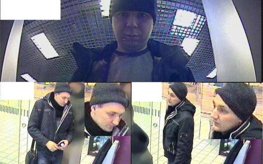 Muitinės kriminalistai prašo atpažinti vaizdo kameromis užfiksuotus vyrus