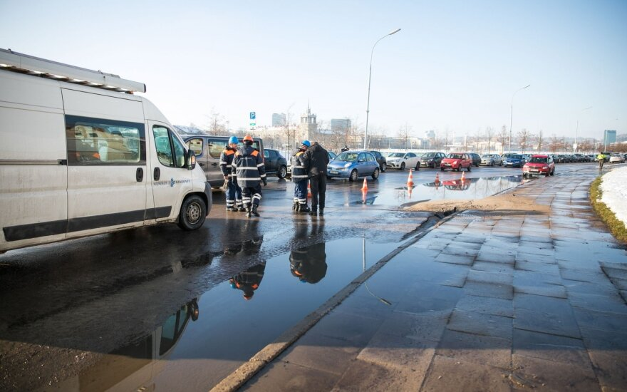 Potvynis Upės gatvėje