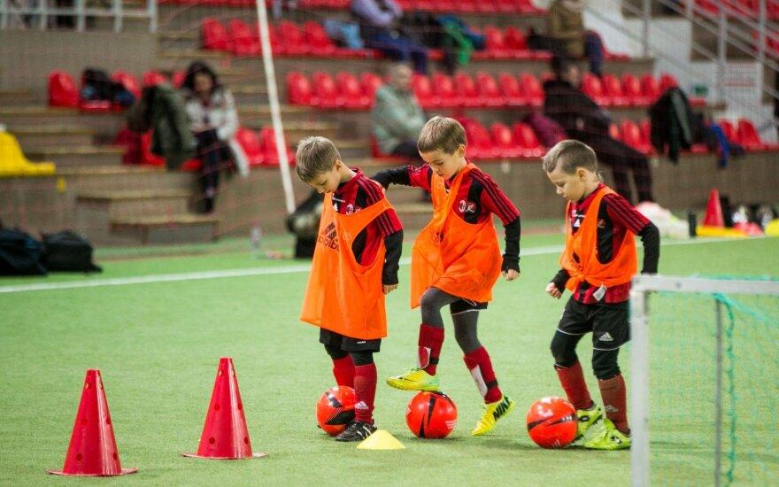 Talentų futbolo akademijos treniruotė