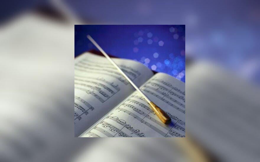 muzika, natos, dirigentas