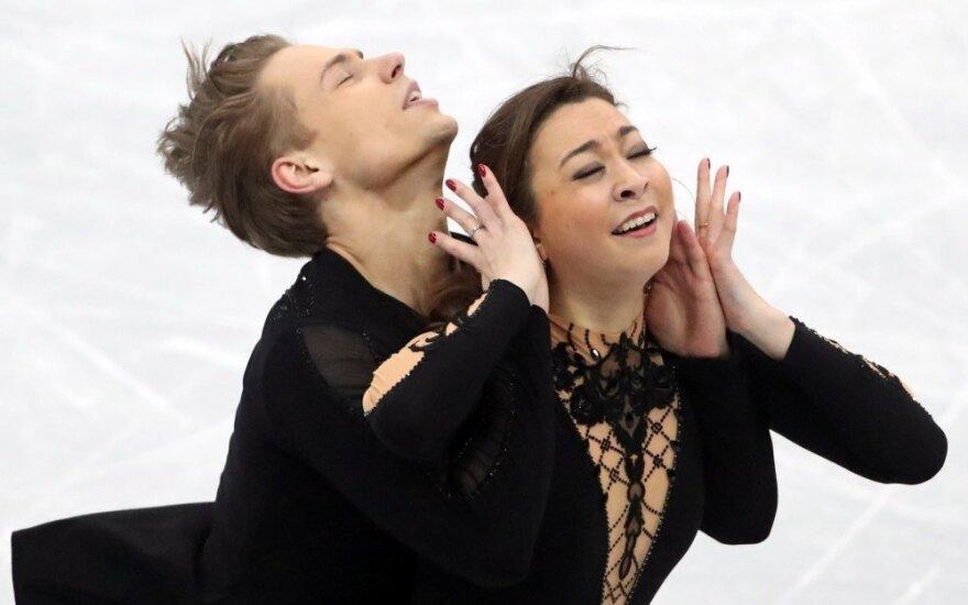 Čiuožėjai Reed ir Ambrulevičius Europos čempionate liko 13-ti