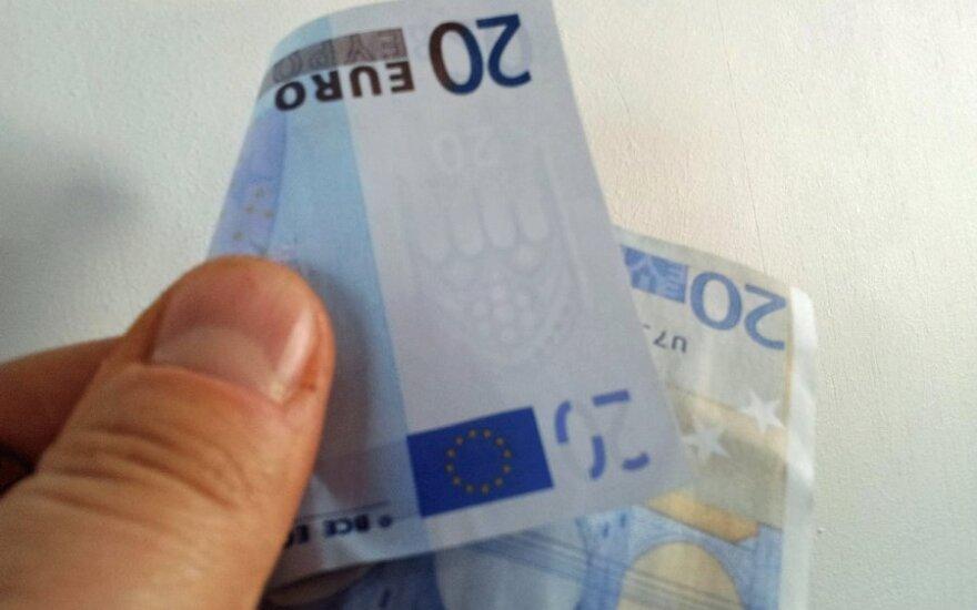 Kurie euro banknotai dažniausiai klastojami