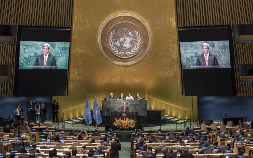 JT nubalsavo, kad būtų pradėtos derybos dėl branduolinių ginklų uždraudimo