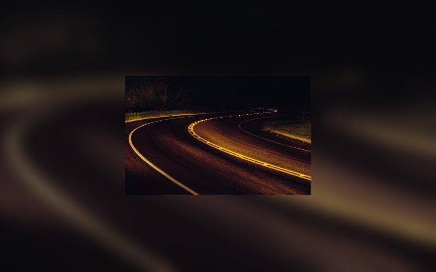 kelias, važiuoti, kelionė, naktis, tamsa