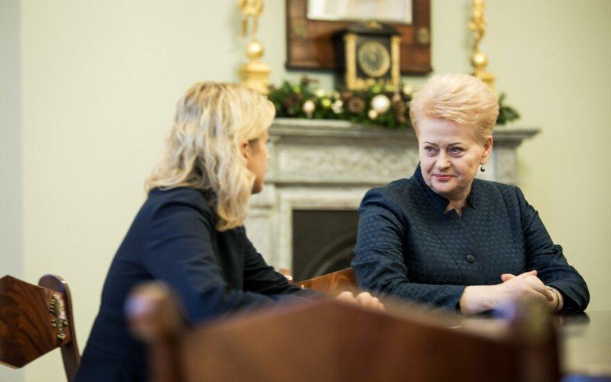 Grybauskaitė kviečiasi švietimo profsąjungas