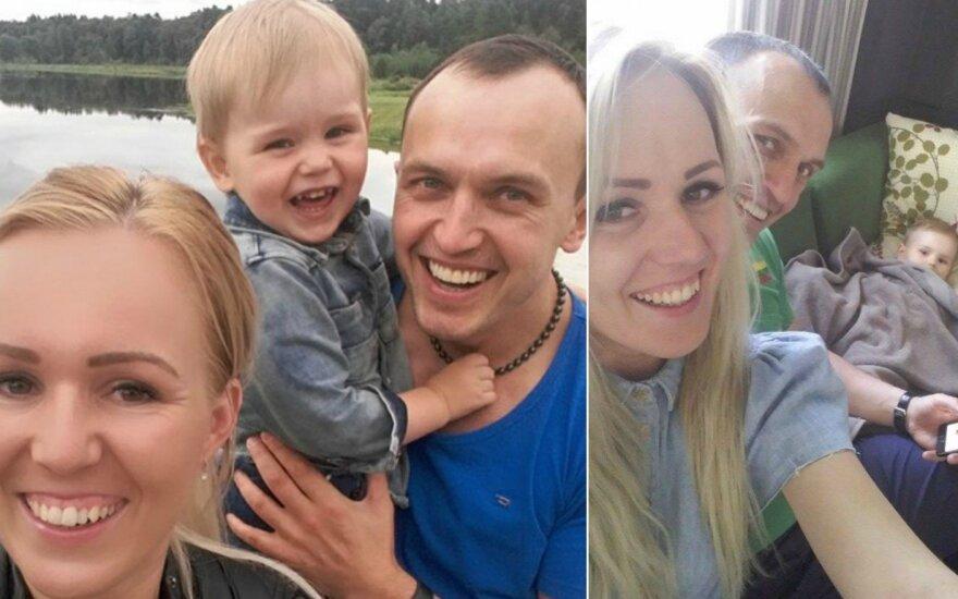Donata Gutauskienė-Laisva su šeima