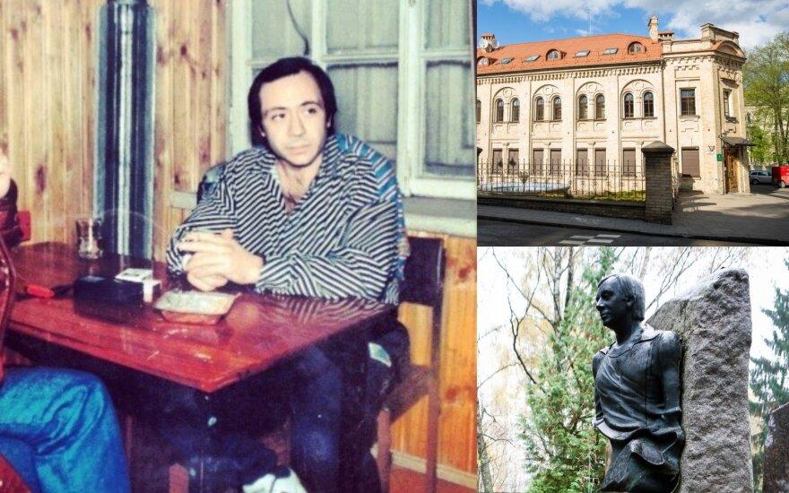 Borisas Dekanidzė, Vilniaus brigados būstinė Tilto g., jo antkapis,