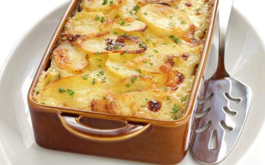 GARDU: bulvių ir svogūnų apkepas
