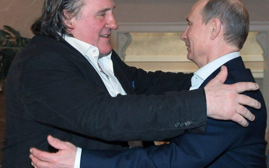 Gerardas Depardieu ir Vladimiras Putinas