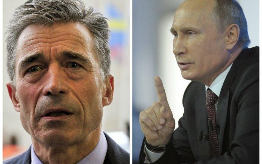 A. F. Rasmussenas, V. Putinas