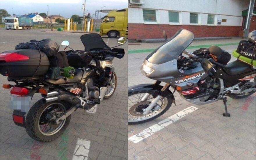Rusas į Lietuvą važiavo, įtariama, Prancūzijoje pavogtu motociklu