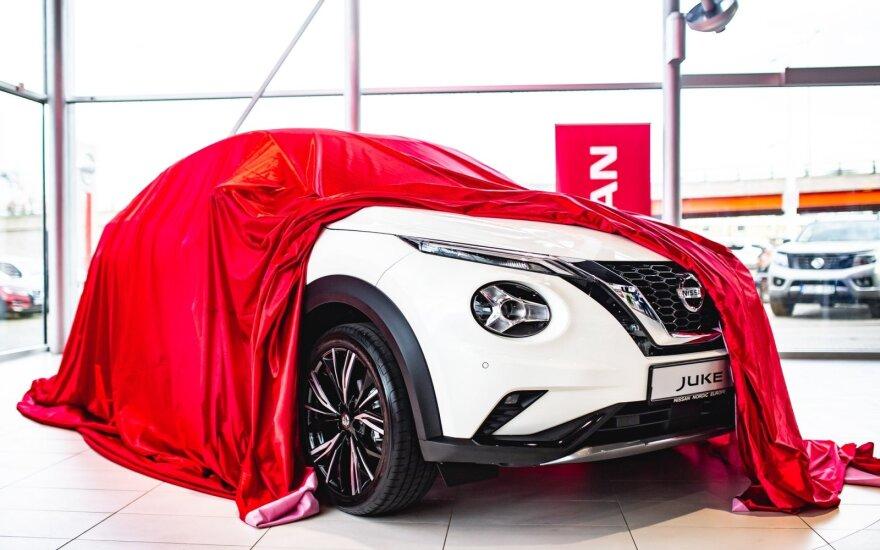 """Į Lietuvą atvežtas naujas """"Nissan Juke"""". Įmonės nuotr."""