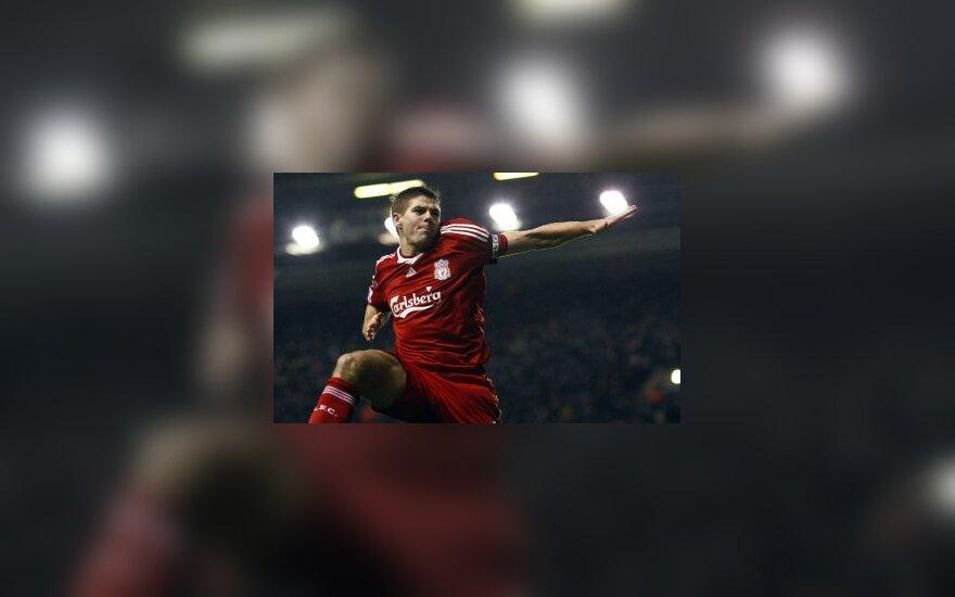 """""""Liverpool"""" kapitonui S.Gerrardui policija pateikė kaltinimus"""
