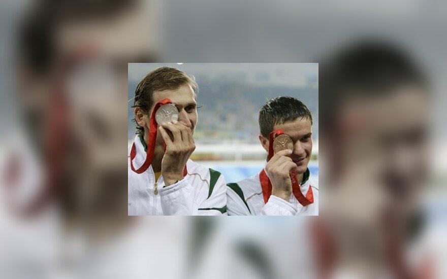 Olimpiados medalininkai E.Krungolcas ir A.Zadneprovskis