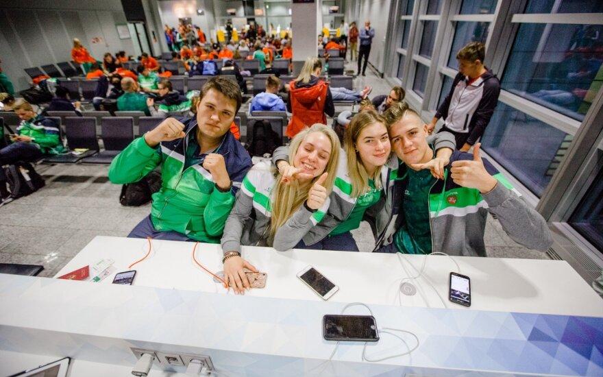 Lietuviai jaunimo olimpinių žaidynių kaimelyje Argentinoje