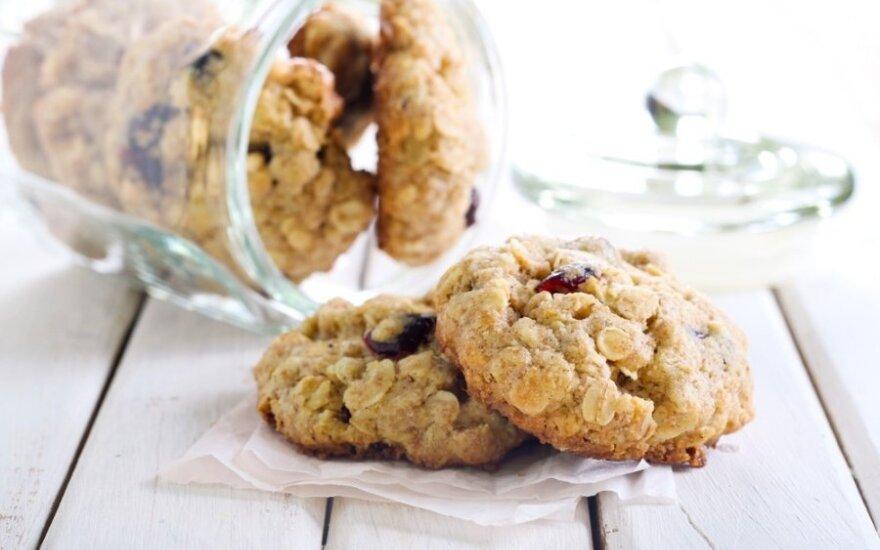 Greiti sveikuoliški avižiniai sausainiai su bananais