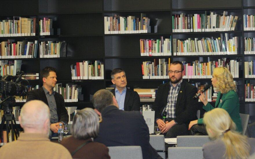 Mažvydo bibliotekoje diskusija įkaito tiek, kad prireikė apsaugininko