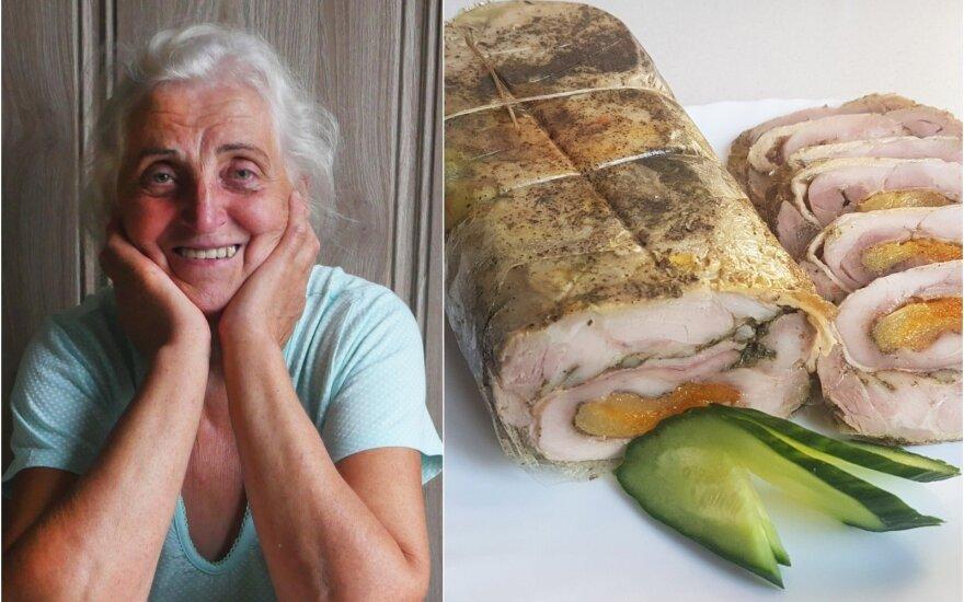 Pasidalijo savo močiutės receptu, kurį ji tobulino ne vienerius metus: vištienos vyniotinis