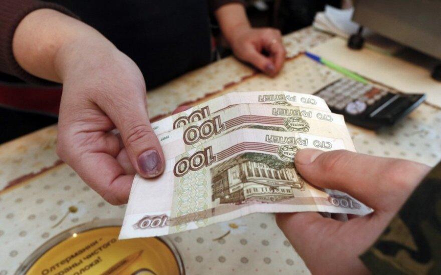Metų infliacija Rusijoje krito žemiau 4 proc.