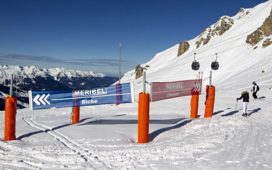 Meribelio kalnų kurorto trasa, kur traumą patyrė Michaelis Schumacheris